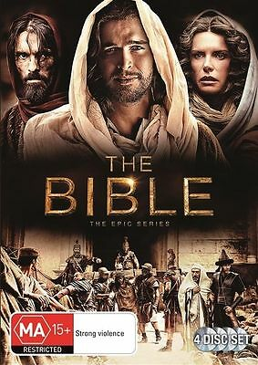 The Bible: The Epic Mini-Series (DVD, 4-Disc Set)  Region 4 - New and Sealed