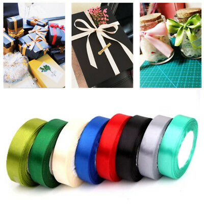 25 Yards Satin Ribbon Gift Packing Ribbons Roll Fabric DIY Festival Decoration