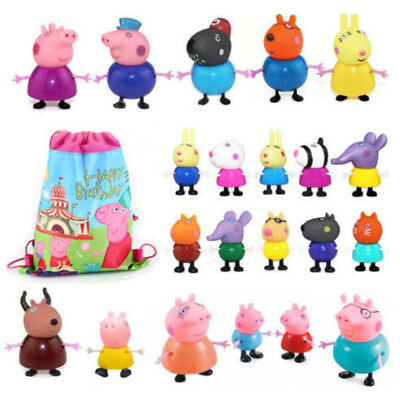 25Pcs Peppa Pig Family&Friends Suzy Emily Rebecca Figures Toys Xmas Kids Gift