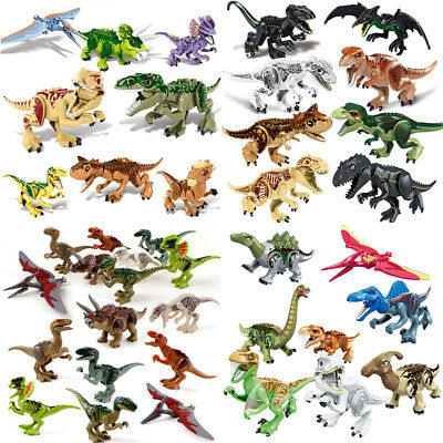 "Indominus Rex XXL Large Full Size Dinosaur 7x11"" Figure Blocks Fit Lego Toys Set"