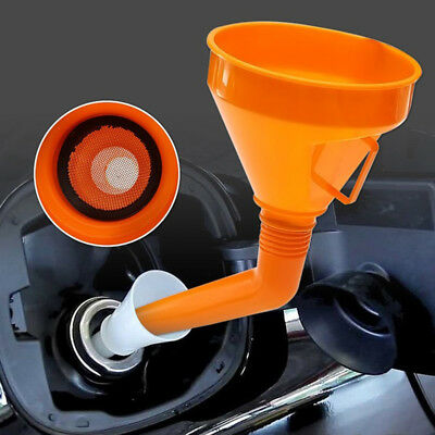 Universal Plastic Car Motorcycle Refuel Gasoline Engine Oil Funnel with Filter C