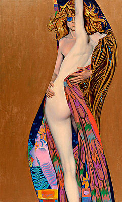 The Kiss Klimt-Hot to Trot 100cm x 60cm Retro Pulp High Quality Canvas Print