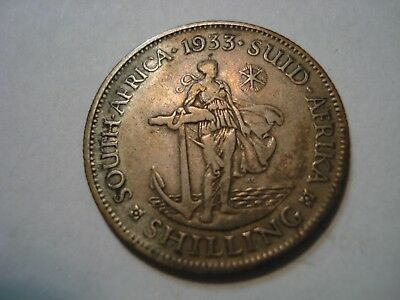 South   Africa   Silver   1  Shilling  1933
