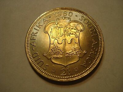 South   Africa   Silver   2  Shillings  1960  Gem Unc