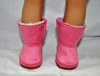 """Our Generation American Girl Doll Gotz 18"""" Dolls Clothes Shoes Pink Winter Boots"""