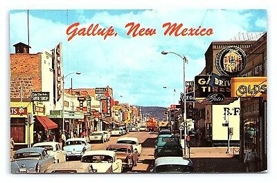 Vintage Postcard Downtown Gallup Route 66 New Mexico E11