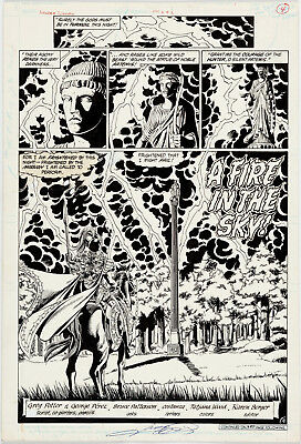 WONDER WOMAN #2 Page 4 Title Splash by GEORGE PEREZ Original Art