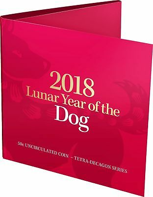 2018 50c Lunar Year of the Dog Tetra-decagon Unc Coin