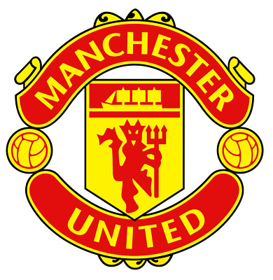 Manu Manchester United Sticker Vinyl Car Bumper Decal Premier League Small Round