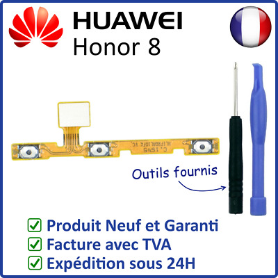 Nappe Interne Des Boutons Power On Off Et Volume + - Du Honor 8 Huawei + Outils