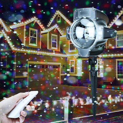 Outdoor Rgb Led Light Projected Projector Light Remote