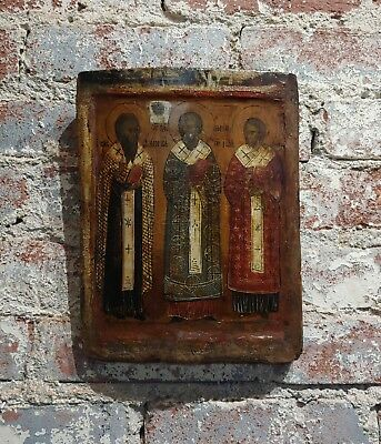 17th century Russian Icon  - Oil painting on wood board