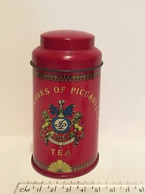 REDUCED !!!!!!!!!!   Jacksons Of Piccadilly Tea Tin With Lid 'Utile Dulci'
