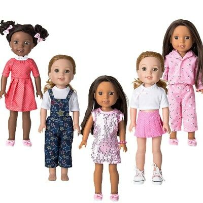 WYHTOYS 5pcs Doll Clothes and Shoes Set for 36cm 37cm American Girl Doll