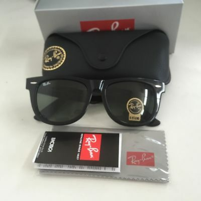 45f4da1a72 NEW Ray-Ban Wayfarer RB2140 901 54mm Lens Black Frame Sunglasses With Box