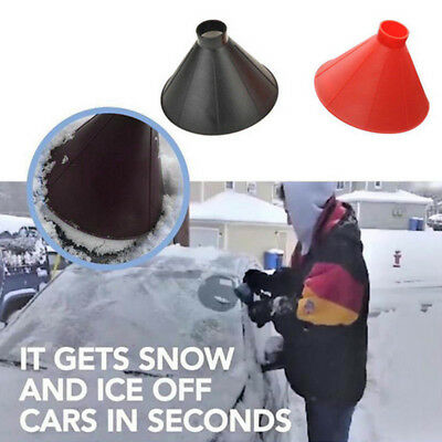Plastic Winter Car Windshield Ice Snow Scraper Cone Funnel Remover Cleaning Tool