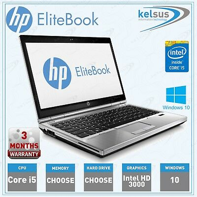 HP EliteBook 2570p Laptop 3rd Gen Core i5 2.8GHz 4GB 8GB 16GB HDD SSD Windows 10