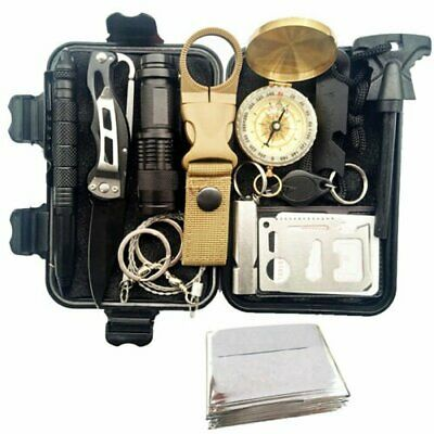 13in1 SOS Emergency Tactical Survival Equipment Kit Outdoor Gear Tool Camping