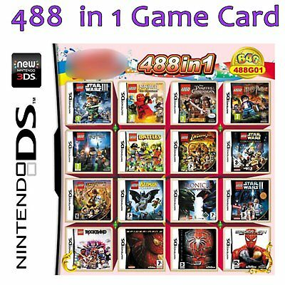488 in1 Video Game Cartridge Console Card for NS NDSI NDS NDSL 2DS 3DS YUK