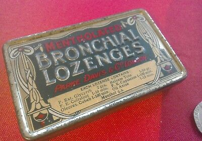 Great Mentholated Bronchial Lozenges tin with embossed lettering