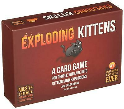 Exploding Kittens Cards Game Board About Explosions Sometimes Goats Adult Funny
