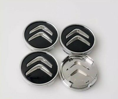 CITREON ALLOY WHEEL CENTRE HUB CAPS 60MM SET OF 4 C1 C3 C4 DS3 Models New