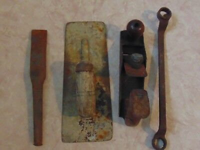 Vintage Tools  Cement Leveller, Hand Plane, Spanner  Estate Items