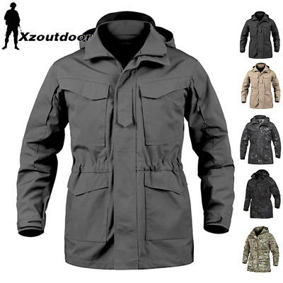 M65 Combat Field Jacket Mens Military Army Coat Tactical Waterproof Hooded  Parka c4c6aaa313a