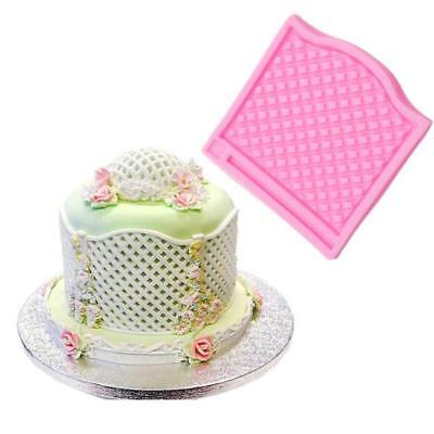 3D Fence Silicone Fondant Mold Cake Soap Cookies Chocolate Baking Mould MA