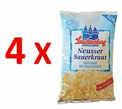 4X Neusser Sauerkraut in Bag 520g, Leuchtenberg, German Quality