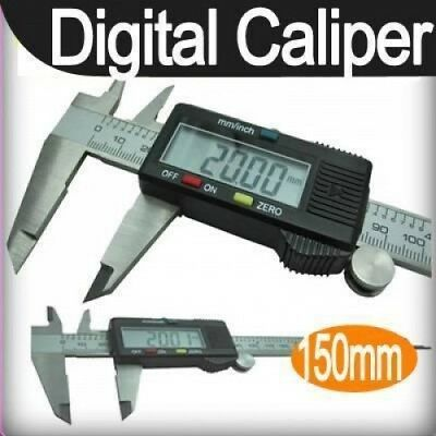 150mm 6inch LCD Digital Electronic Vernier Caliper Gauge Micrometer
