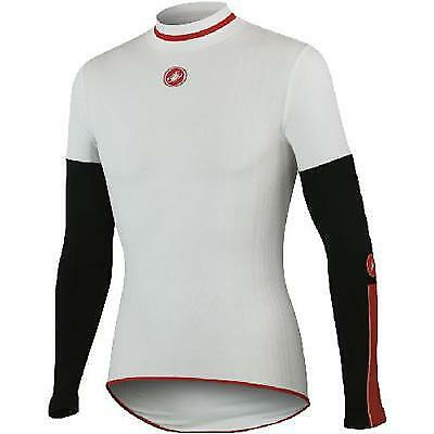 Castelli Feroce Midweight Long Sleeve Cycling Base Layer - A11530 (White -  S M aed032c63