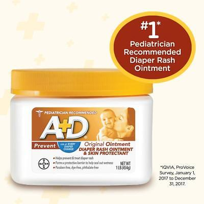 A+D Original Diaper Rash Ointment,protection With Lanolin and Petrolatum 1 Pound