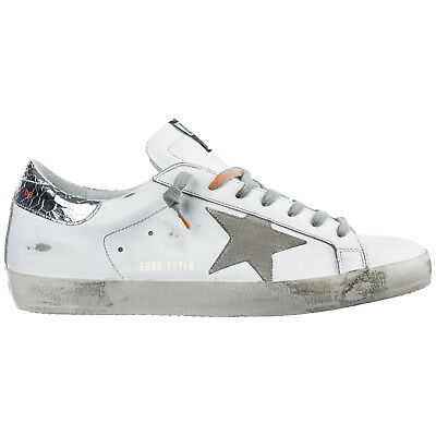 Golden Goose Men's Shoes Leather Trainers Sneakers New Superstar White A79