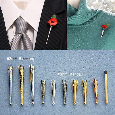 "Long Slim Deco ""Poirot"" Brooch/Lapel Pin Vase for Corsage*Buttonhole*Boutonniere"