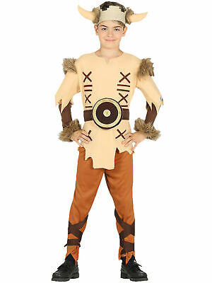 Boys Viking Costume Child Medieval Fancy Dress History Book Day Week Kids Outfit