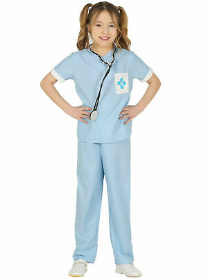 Child Vet Costume Boys Girls Animal Hospital Uniform Fancy Dress Book Day Outfit