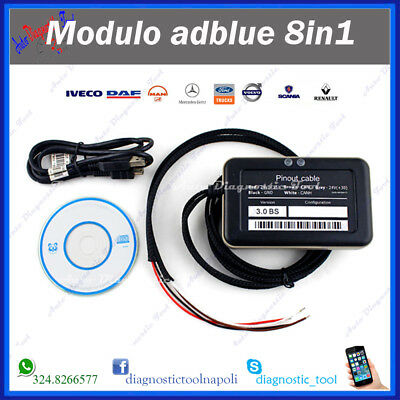 Ad Blue Emulatore Adblue 8In1 Daf Man Scania Iveco Volvo Renault Mercedes Ford