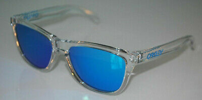 771560ccb7f Oakley Frogskins Crystal Sunglasses OO9013-A6 Polished Clear Sapphire  Iridium