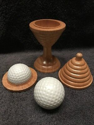 Ball and Vase - Classic Novelty Magic Trick Toy Wooden