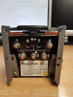 Regavolt Variable Transformer | TYPE 715 | 230/240V 15A