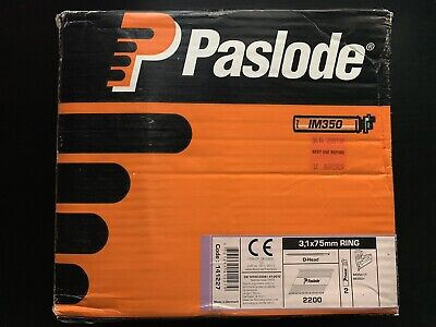 Paslode IM350 2200x 3.1x75mm Ring Galv-Plus D-Head Nails *No Gas/Fuel Cells