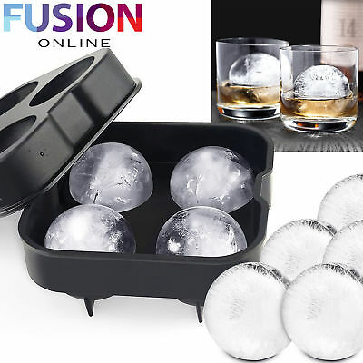 Ice Ball Maker Mold Silicon Sphere Mould Whiskey Party Tray Bar Round Ice Cube