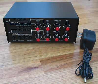 Studio 1 Productions Dual Video Proc Amp Hardware Color Corrector PA-200 Tested!