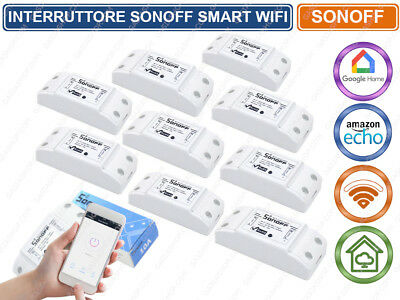 Interruttore Smart Wifi Sonoff Switch Compatibile Con Amazon Alexa Google Presa