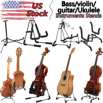 Guitar/Violins/Ukuleles/Bass Stand Instruments Single A-Shaped Musical Foldable