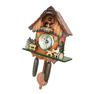 Wooden Cuckoo Clock Decorative Wall Clock with Quartz Movement Gift F