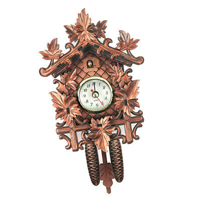 Wooden Cuckoo Clock Decorative Wall Clock with Quartz Movement Gift M