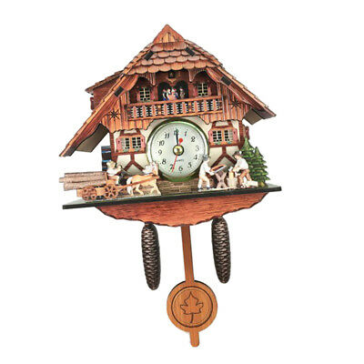 Wooden Cuckoo Clock Decorative Wall Clock with Quartz Movement Gift G
