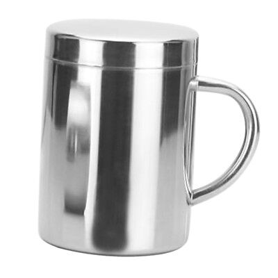 bulin Thermal Camping Travelling Mug Cup Stainless Steel Water Cup Double L H2N8
